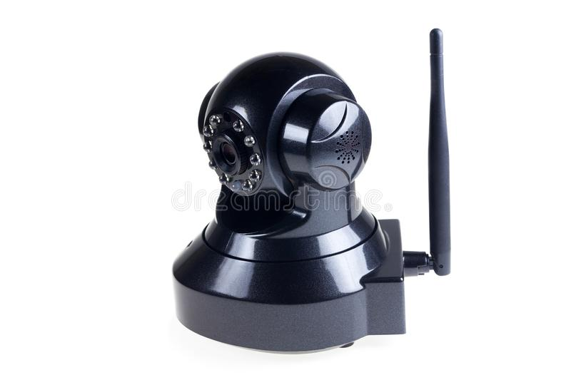 CCTV Wireless on white background. Accessory, black, camera, communication, control, digital, electric, electrical, electronic, equipment, home, industry stock images