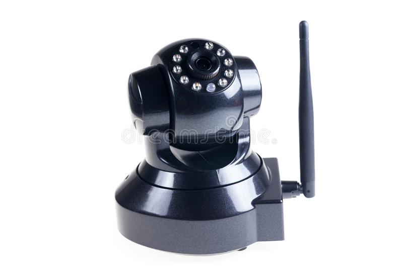 CCTV Wireless on white background. Accessory, black, camera, communication, control, digital, electric, electrical, electronic, equipment, home, industry royalty free stock photography