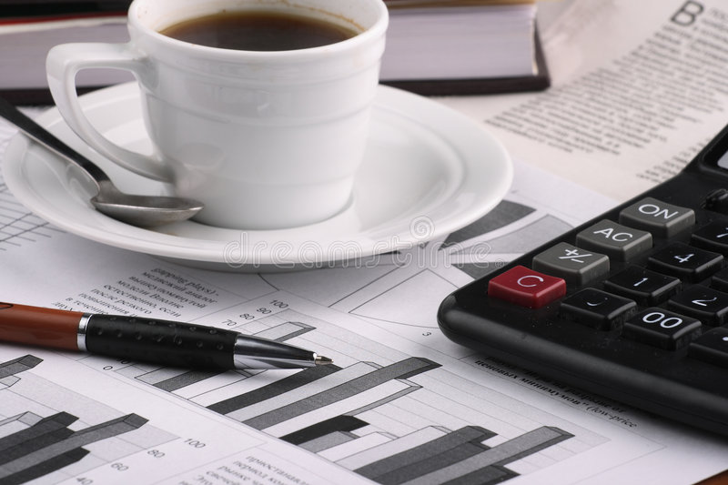 Download CCup Coffee Business News Royalty Free Stock Images - Image: 4233359
