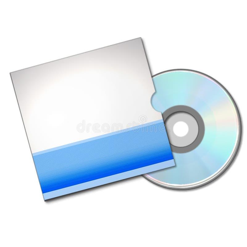 CD或DVD配件箱 向量例证