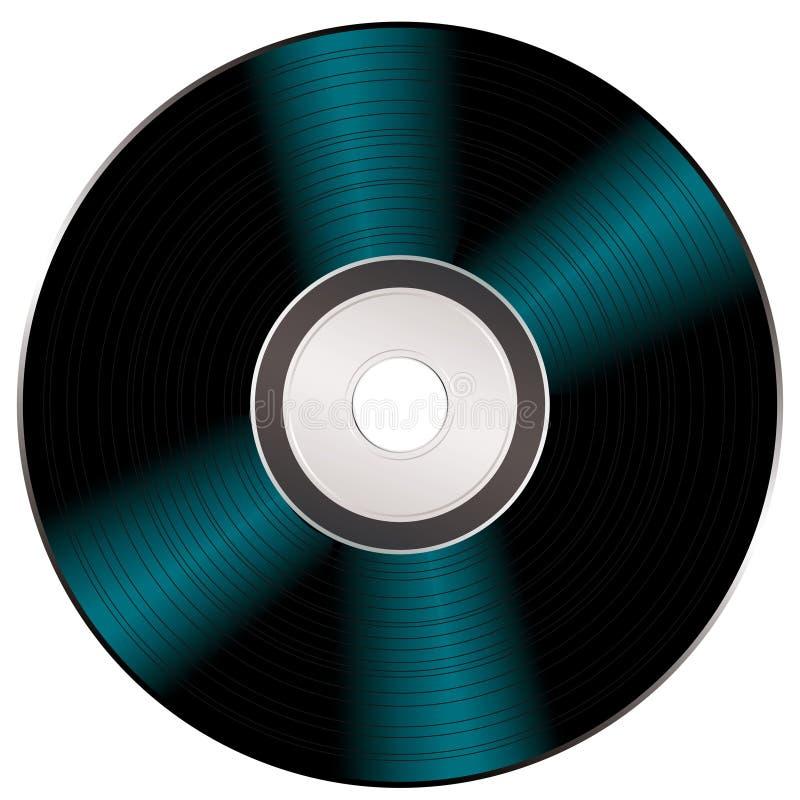 CD的发光的录影 库存例证