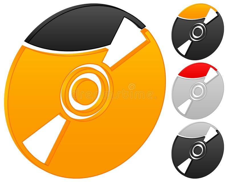 CD的图标 库存例证