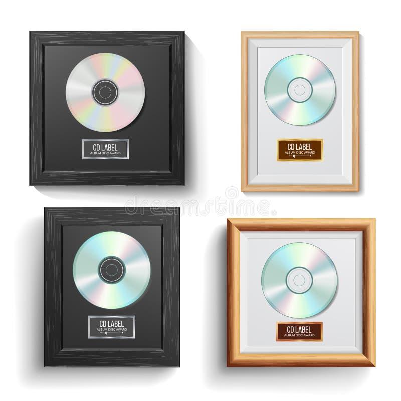 cd的圆盘奖集合传染媒介 现代仪式 畅销品 音乐战利品