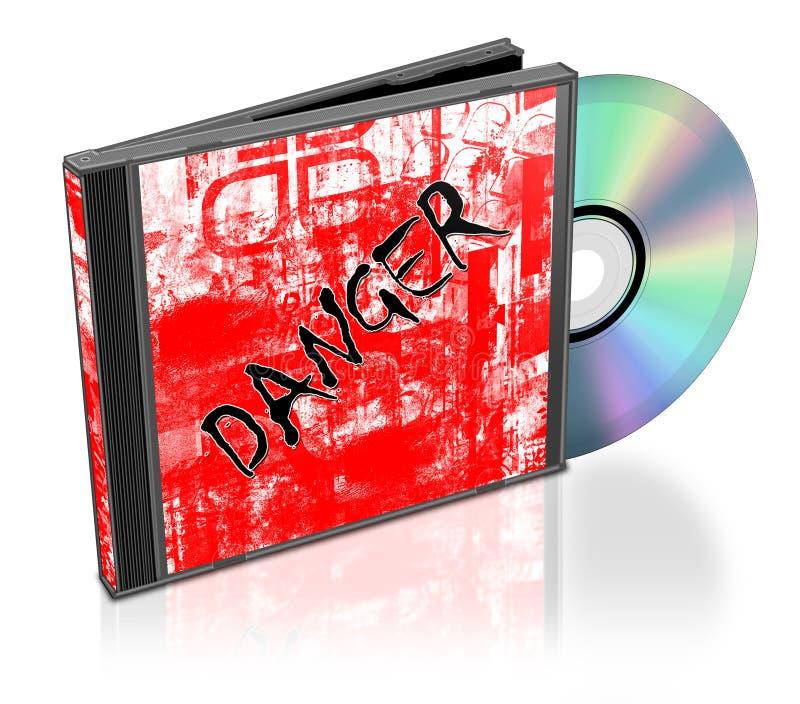 CD的堆 库存例证