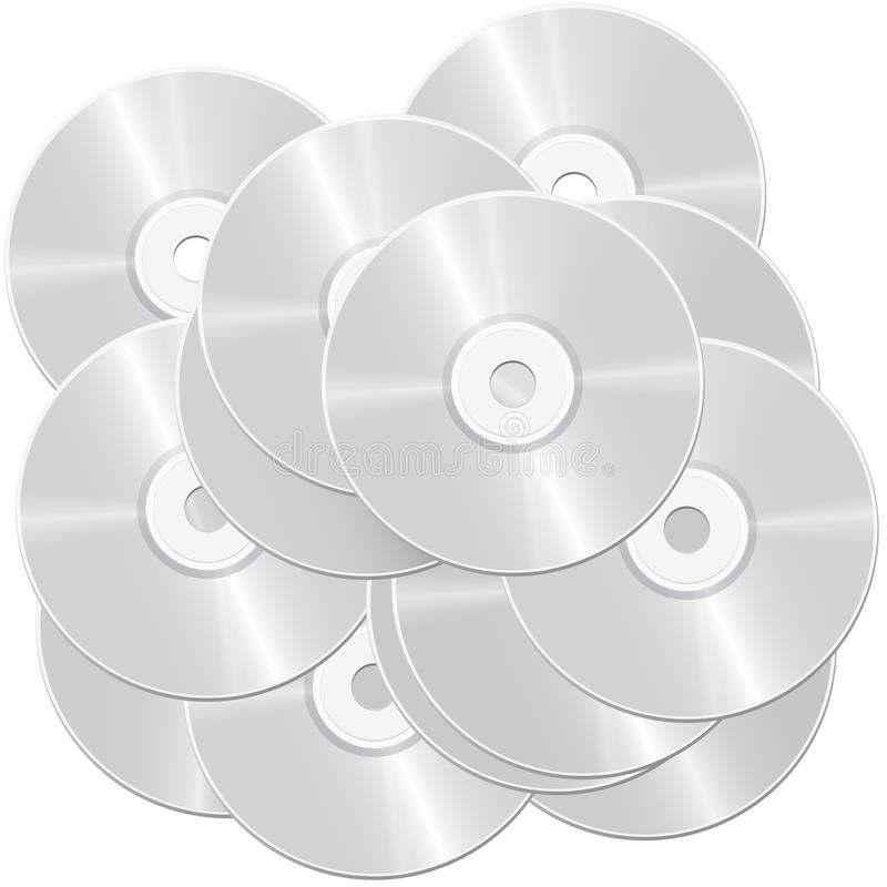 CD的堆 向量例证