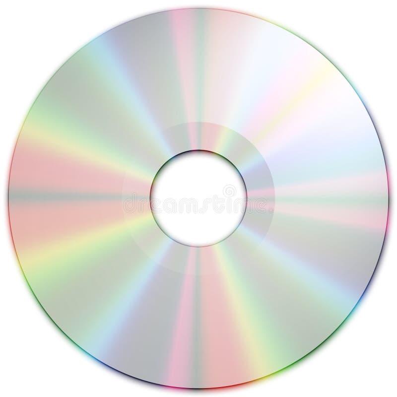 CD的媒体银色纹理 向量例证