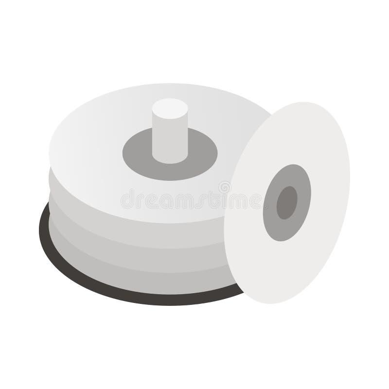 CD的容器象,动画片样式 库存例证