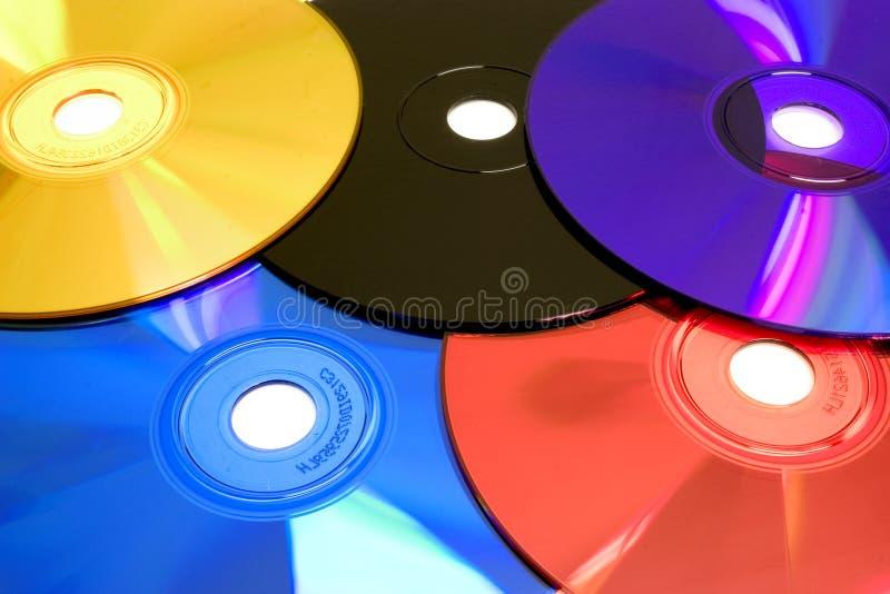 CD的彩虹 免版税库存图片