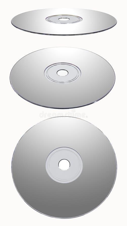 CD的查出的rom银 向量例证