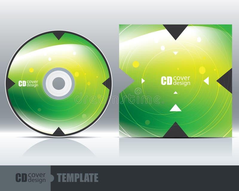 CD的盖子设计模板设置了1 皇族释放例证