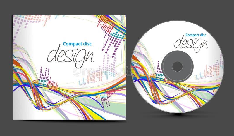 CD的盖子设计 向量例证
