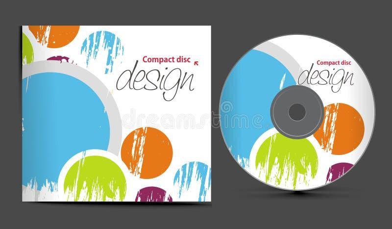 CD的盖子设计 库存例证