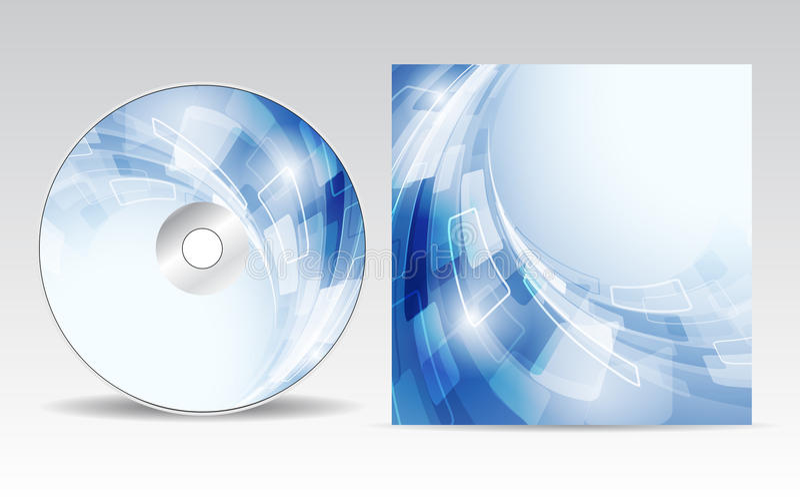 CD的盖子设计 皇族释放例证