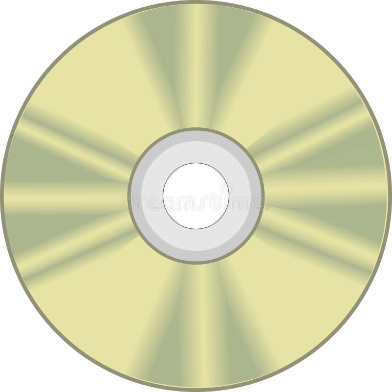 CD的盘rom 库存例证