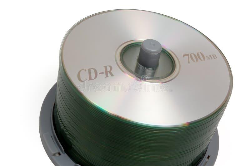 CD的裁减路线小的栈 免版税库存图片
