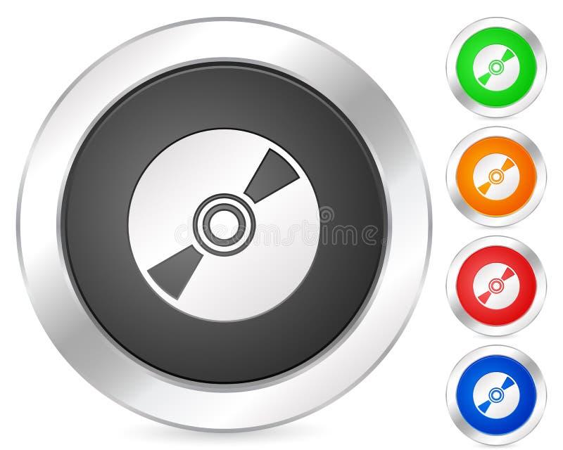 CD的计算机图标 库存例证
