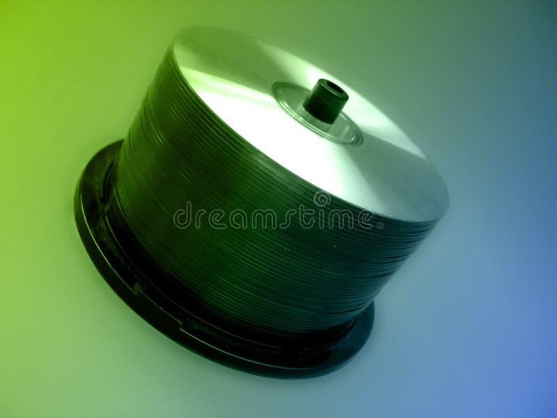 CD的轴心 库存图片