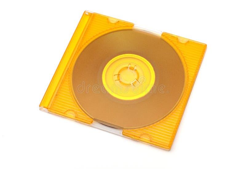 CD的黄色 免版税库存图片