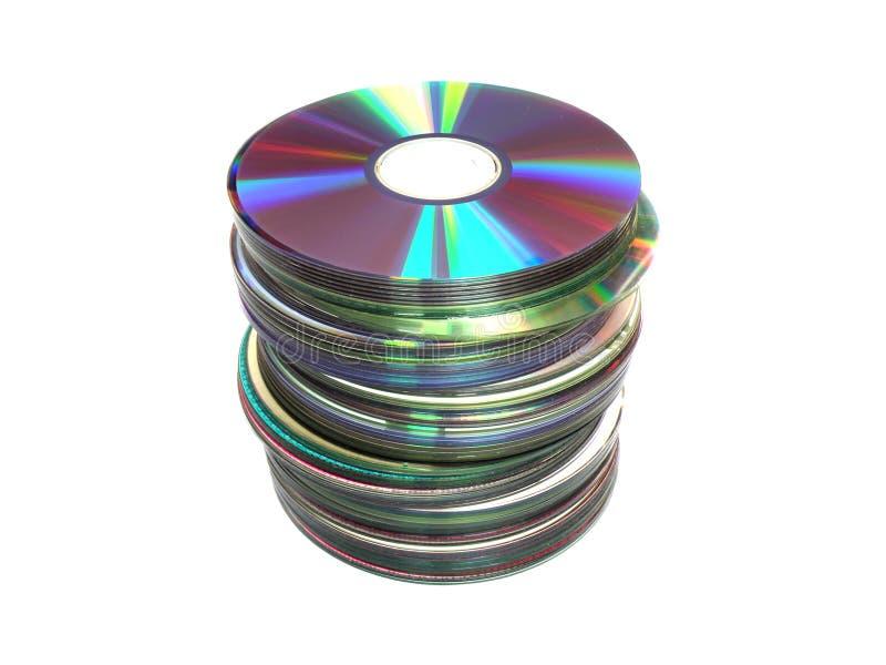 CD的dvd 皇族释放例证