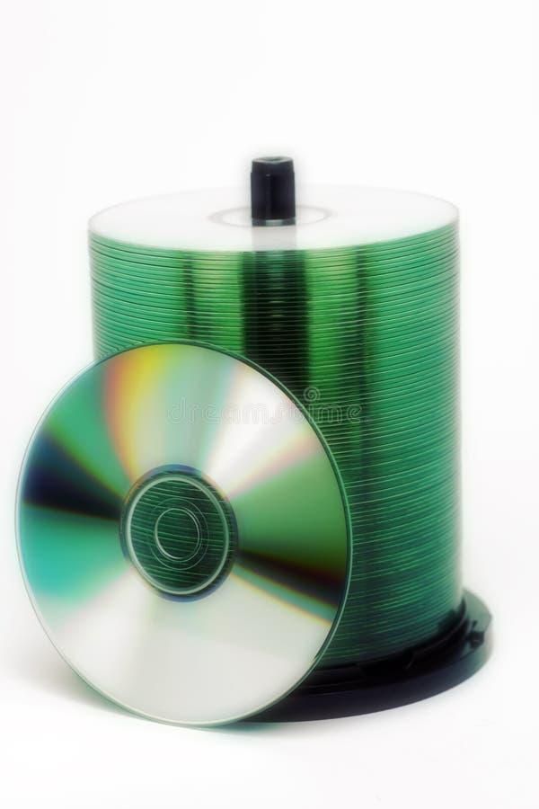 CD的dvd 库存照片