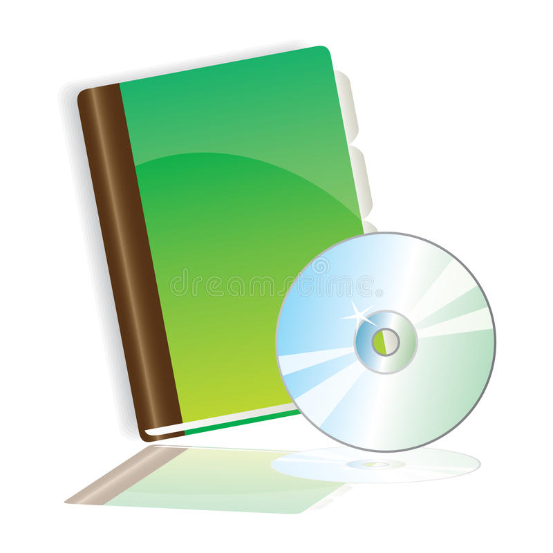 CD的writingbook 向量例证