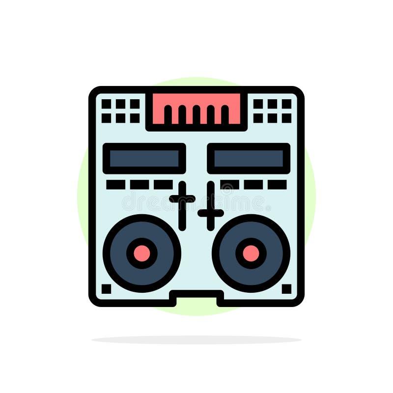 Cd,控制台,甲板,搅拌器,音乐抽象圈子背景平的颜色象 库存例证
