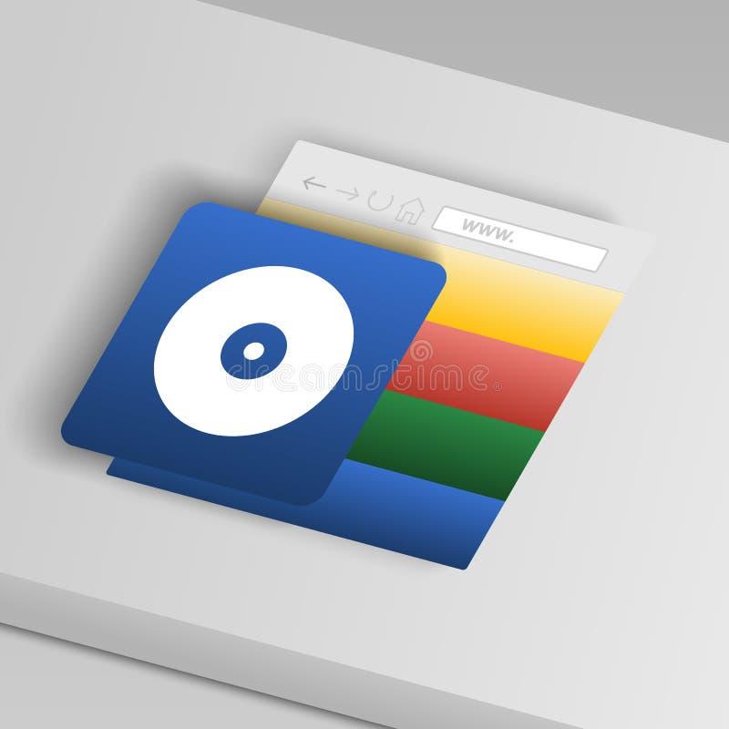 cd икона диска От значков кнопки собрания бесплатная иллюстрация
