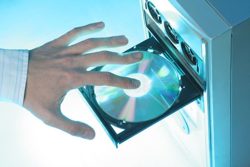 cd вводя rom стоковые фото