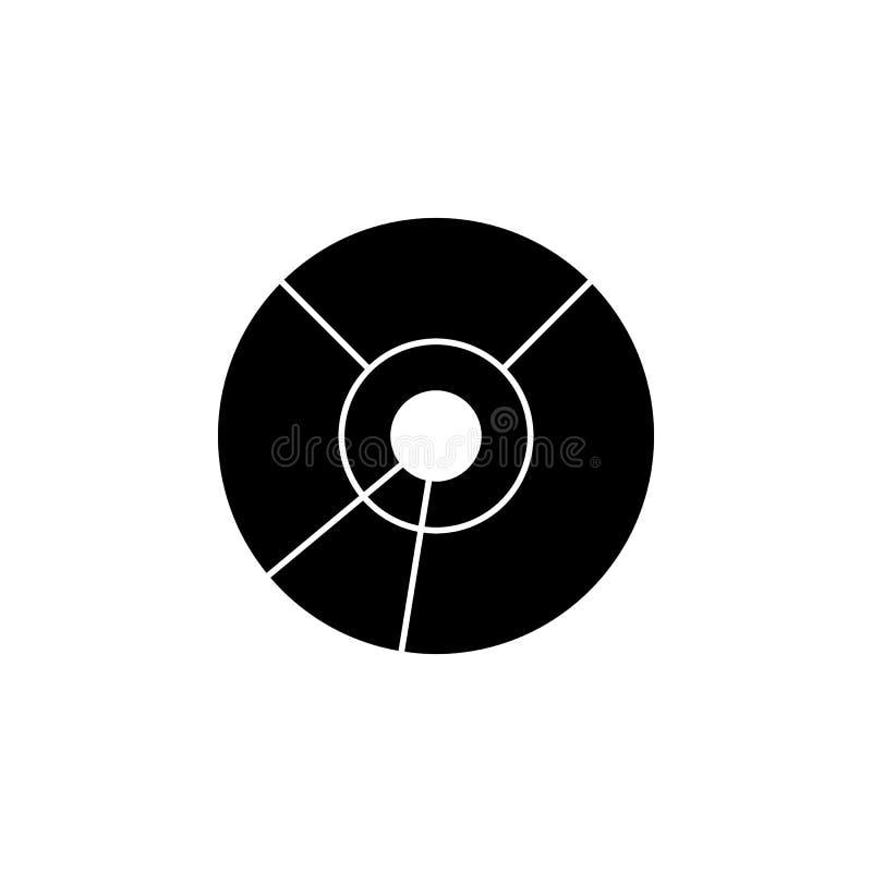 cd икона диска Элемент значка сети для передвижных apps концепции и сети Изолированный значок диска КОМПАКТНОГО ДИСКА можно испол бесплатная иллюстрация