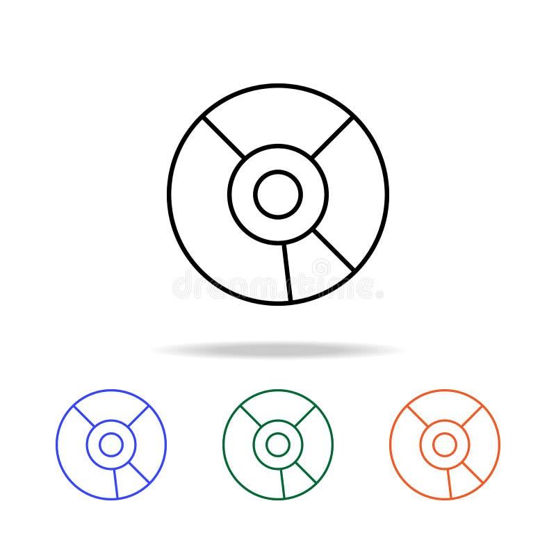 cd икона Элементы простого значка сети в multi цвете Наградной качественный значок графического дизайна Простой значок для вебсай иллюстрация штока