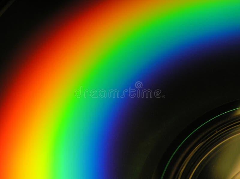 Cd радуга взгляда Стоковые Изображения