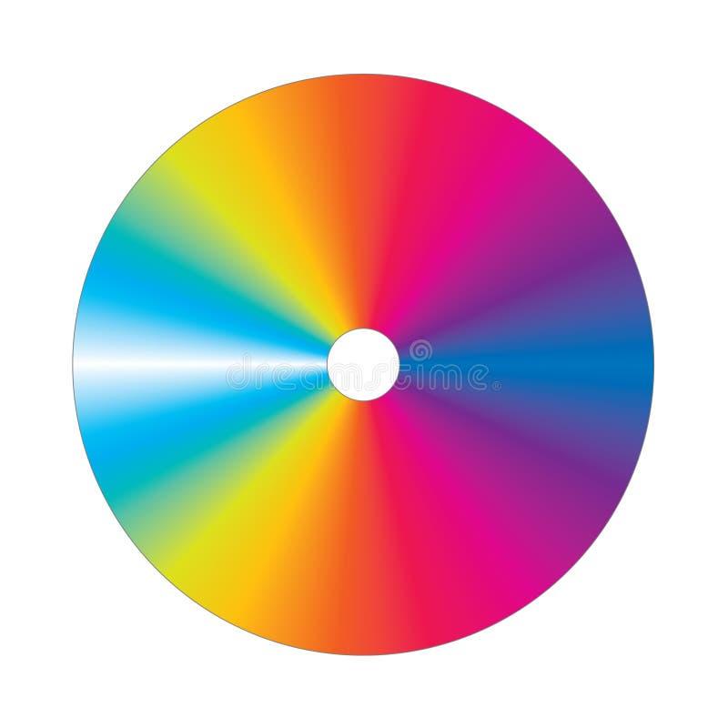 cd цветастый вектор стоковое изображение rf