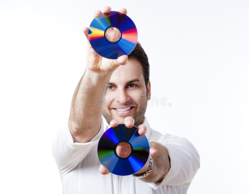 cd человек удерживания стоковое фото