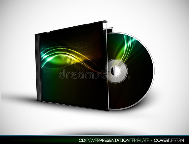CD Abdeckung-Auslegung mit Schablone der Darstellungs-3D vektor abbildung