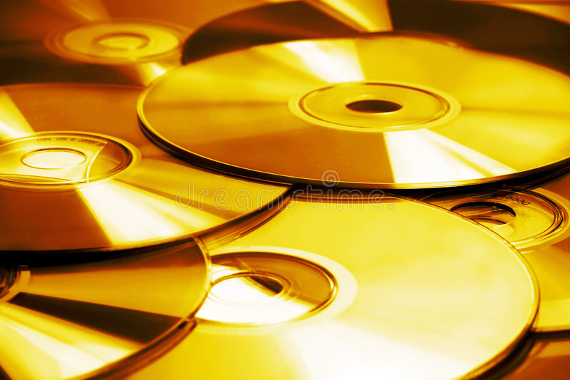 CD & DVD imagens de stock