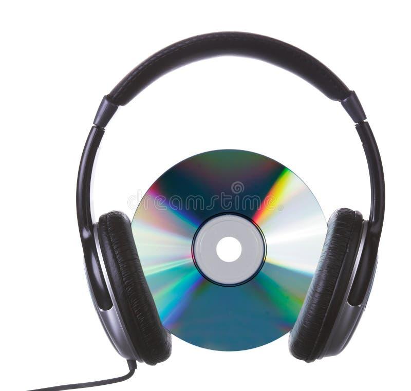 Cd&headphones lizenzfreies stockfoto