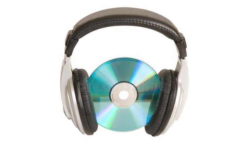 cd begreppsheadphonemusik arkivbilder