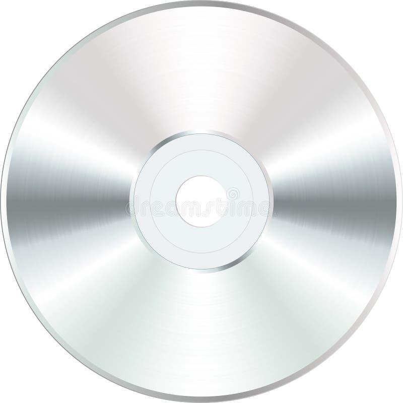 CD in bianco bianco illustrazione vettoriale
