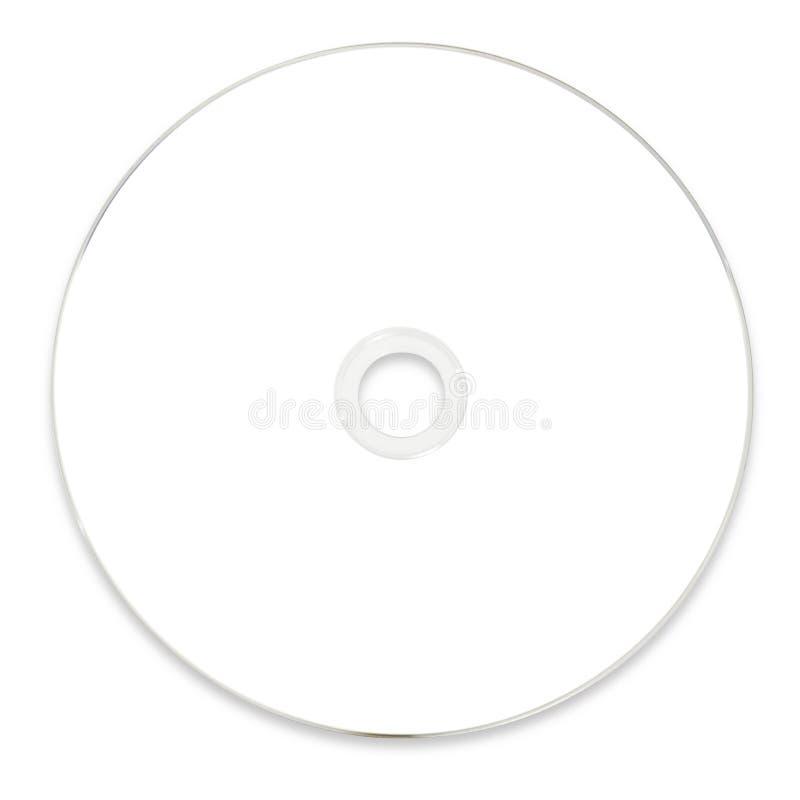 CD in bianco di bianco DVD fotografia stock