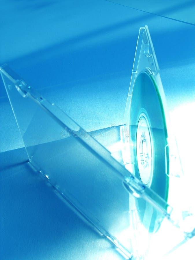 CD in blauwe tonen stock foto