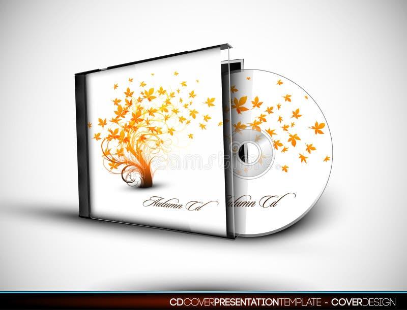 CD bloeit het Ontwerp van de Dekking met 3D Temperaturen van de Presentatie vector illustratie
