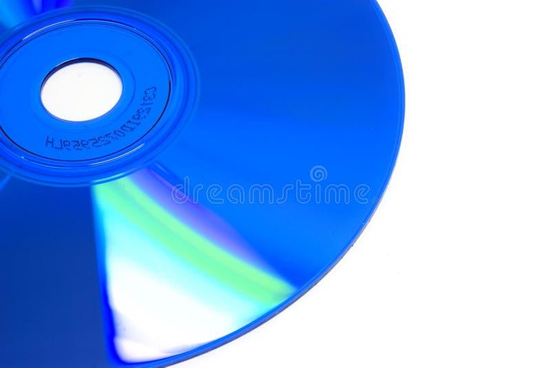 CD blu fotografie stock
