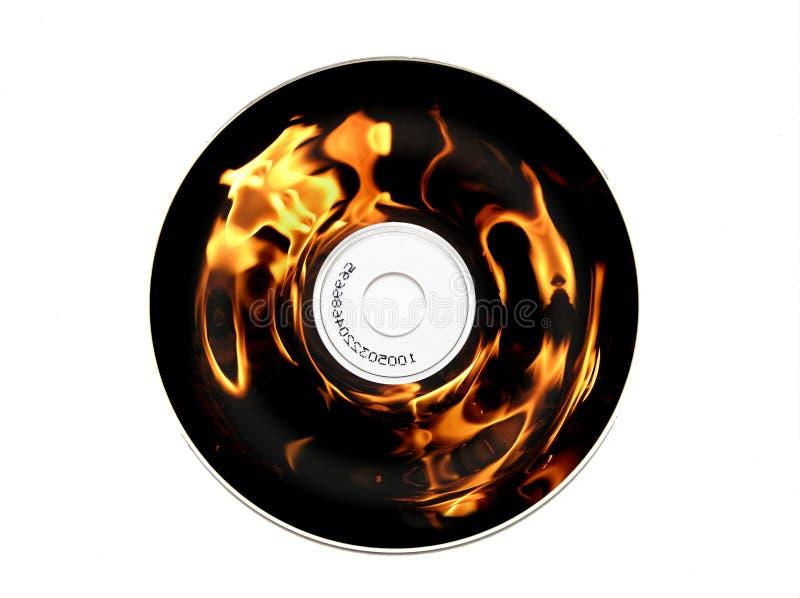 CD brûlant image libre de droits