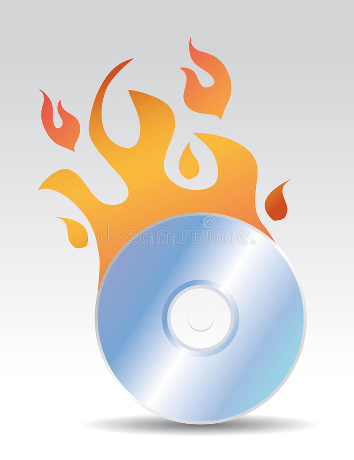 Download Cd burning stock vector. Image of blazing, circle, fiery - 22077689