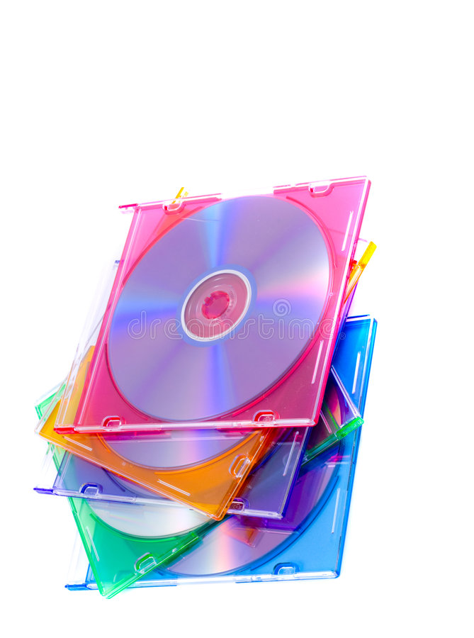 Cd Case. / archives, blue, branding royalty free stock image