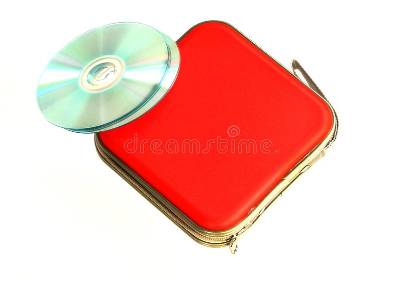 CD case isolated on white background royalty free stock photos