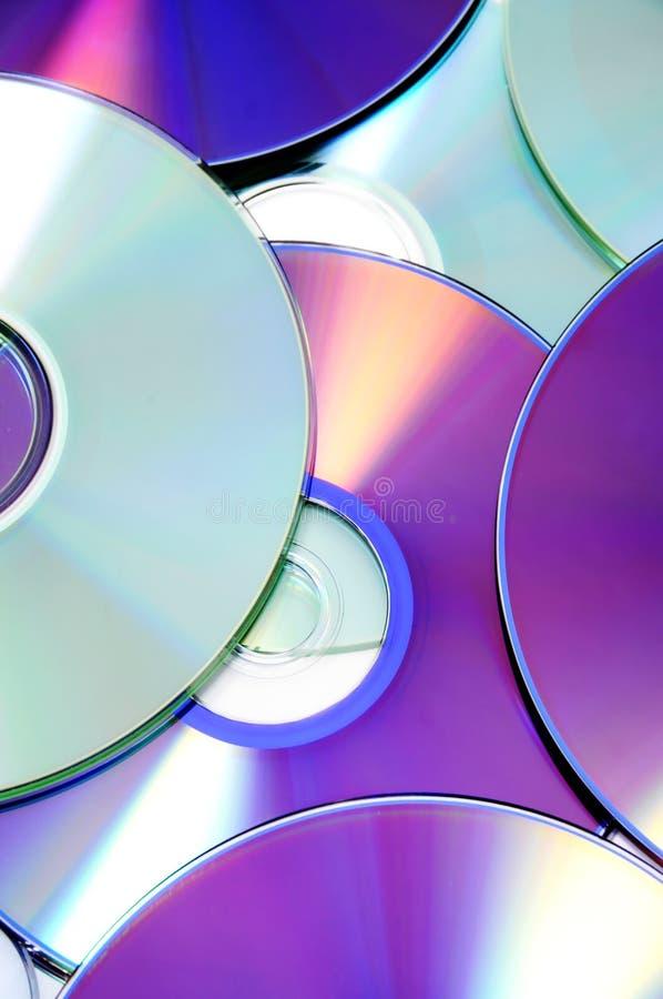 CD, CD-ROM e DVD fotografia de stock