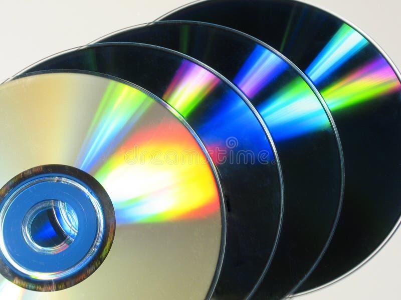 Cd colorés photographie stock libre de droits