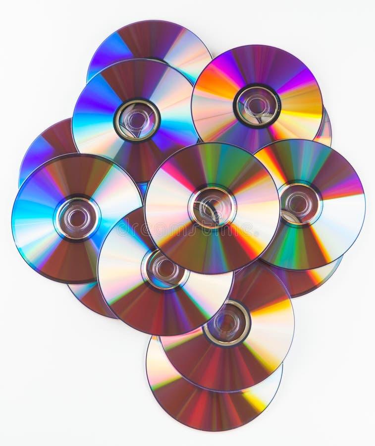 Cd colorés d'isolement ou DVDs photos libres de droits