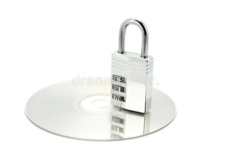 cd combonation zamka srebra fotografia stock